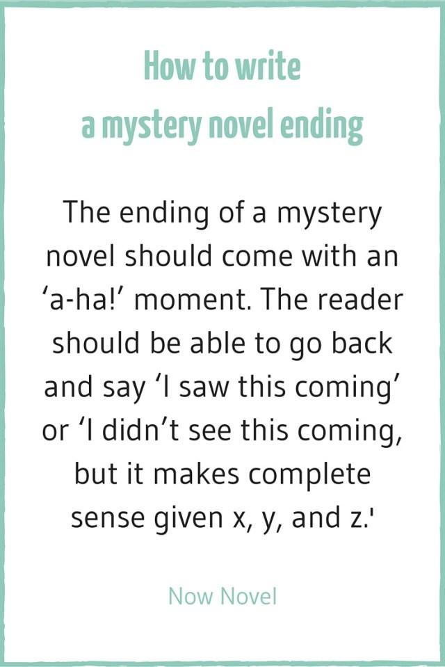 Writing a Mystery Novel - 11 Elements  Now Novel