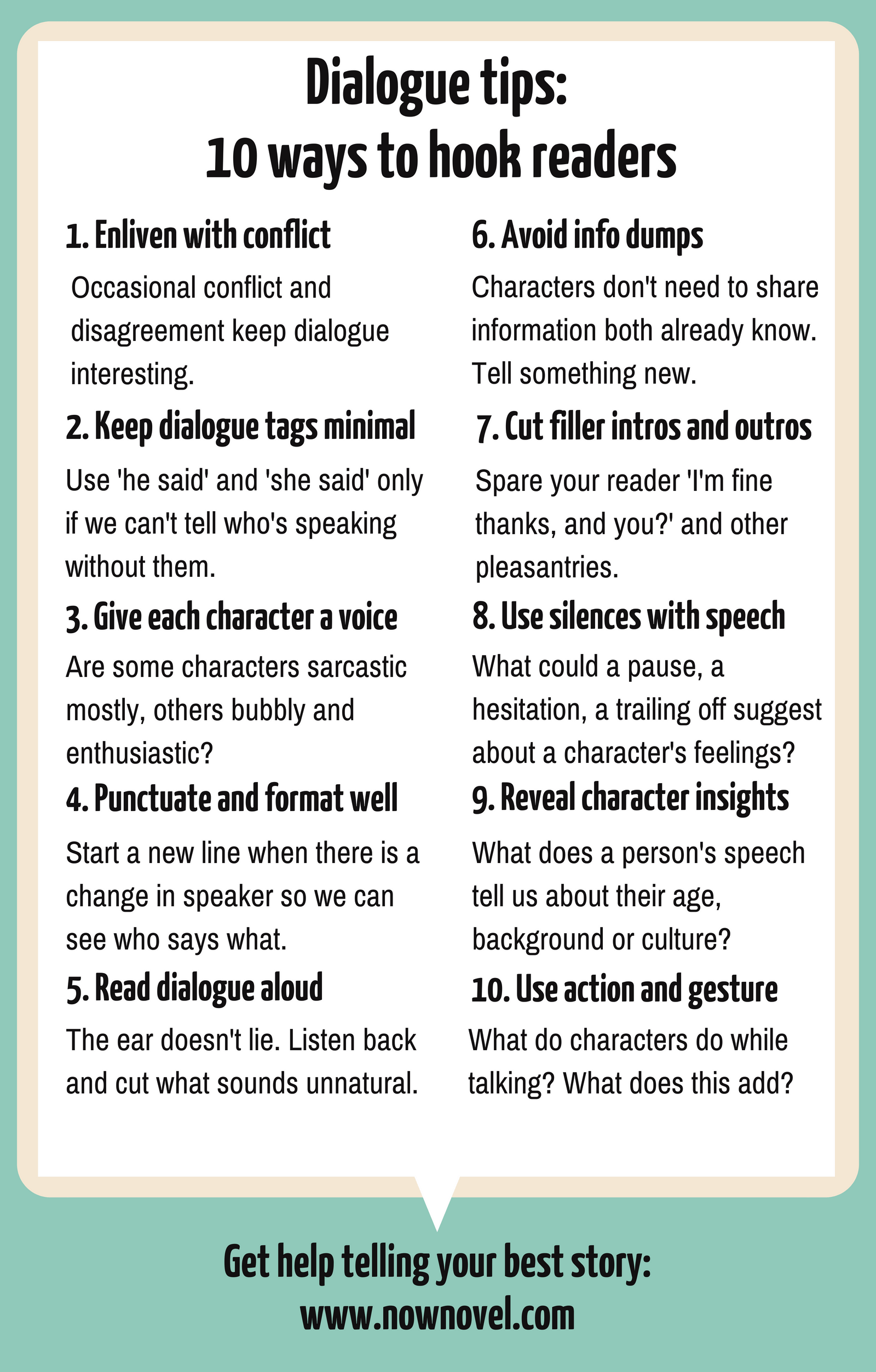 10 Dialogue Tips To Hook Readers