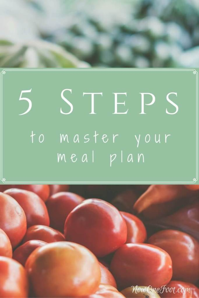 5 Steps to Master Your Meal Plan - Now One Foot