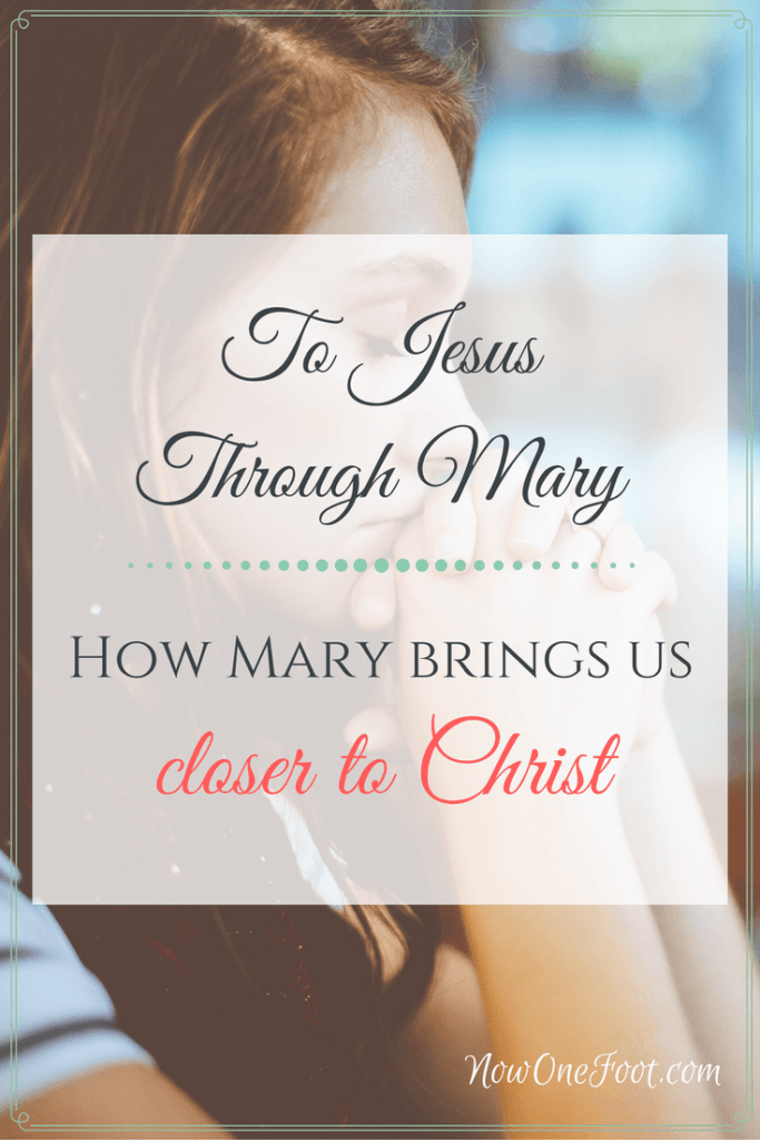 As a mother can give you great insight to her son and curry favor with him, a relationship with Mary can help bring you closer to Christ and grow in your relationship with her Son. Here are 3 ways you can grow closer to Christ through Mary - Now One Foot