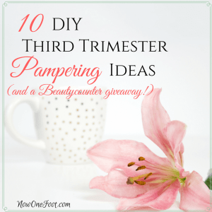 10 DIY third trimester pampering ideas (and a giveaway!)