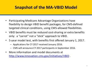 Value Based Model for Medicare Part C