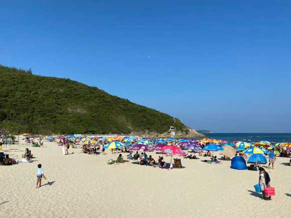 Big Wave Bay Beach gets crowded on weekends and holidays