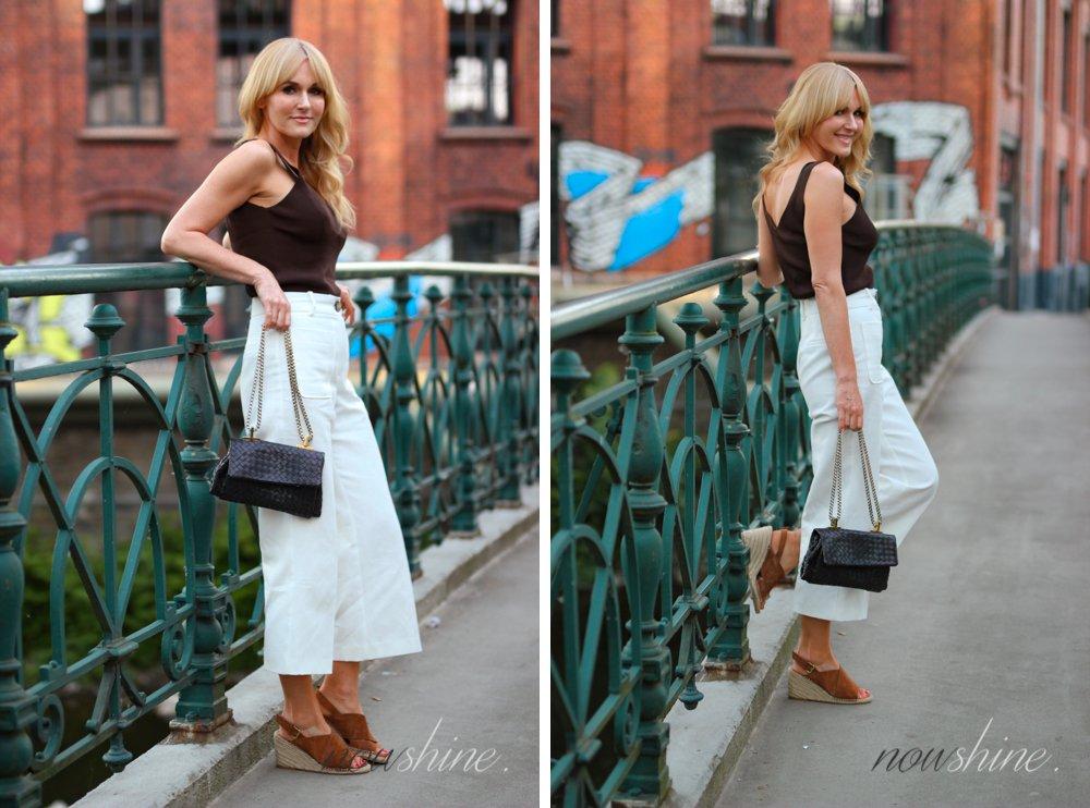 Nowshine ü40 Blog in Sandalen mit Keilabsatz von H&M Premium