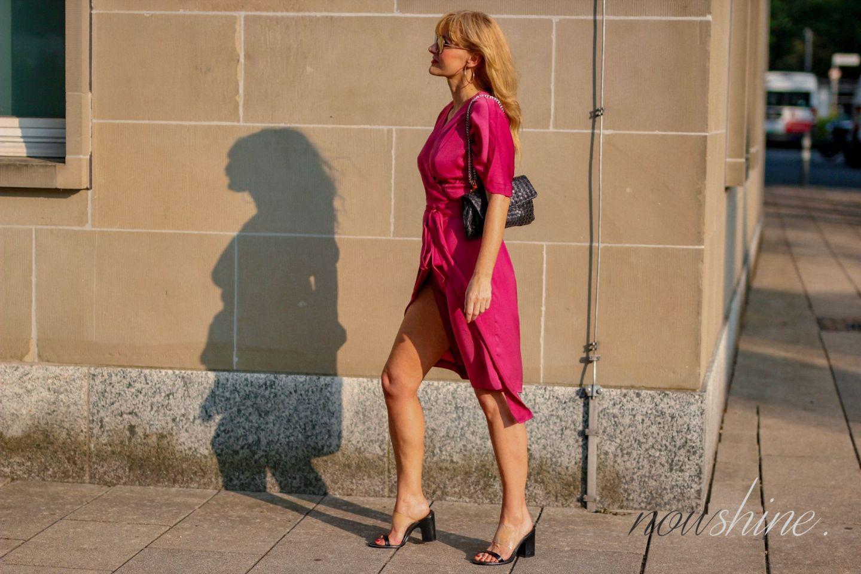 Pinkes Wrap Dress Wickelkleid - Edited - nowshine ü 40 Blog