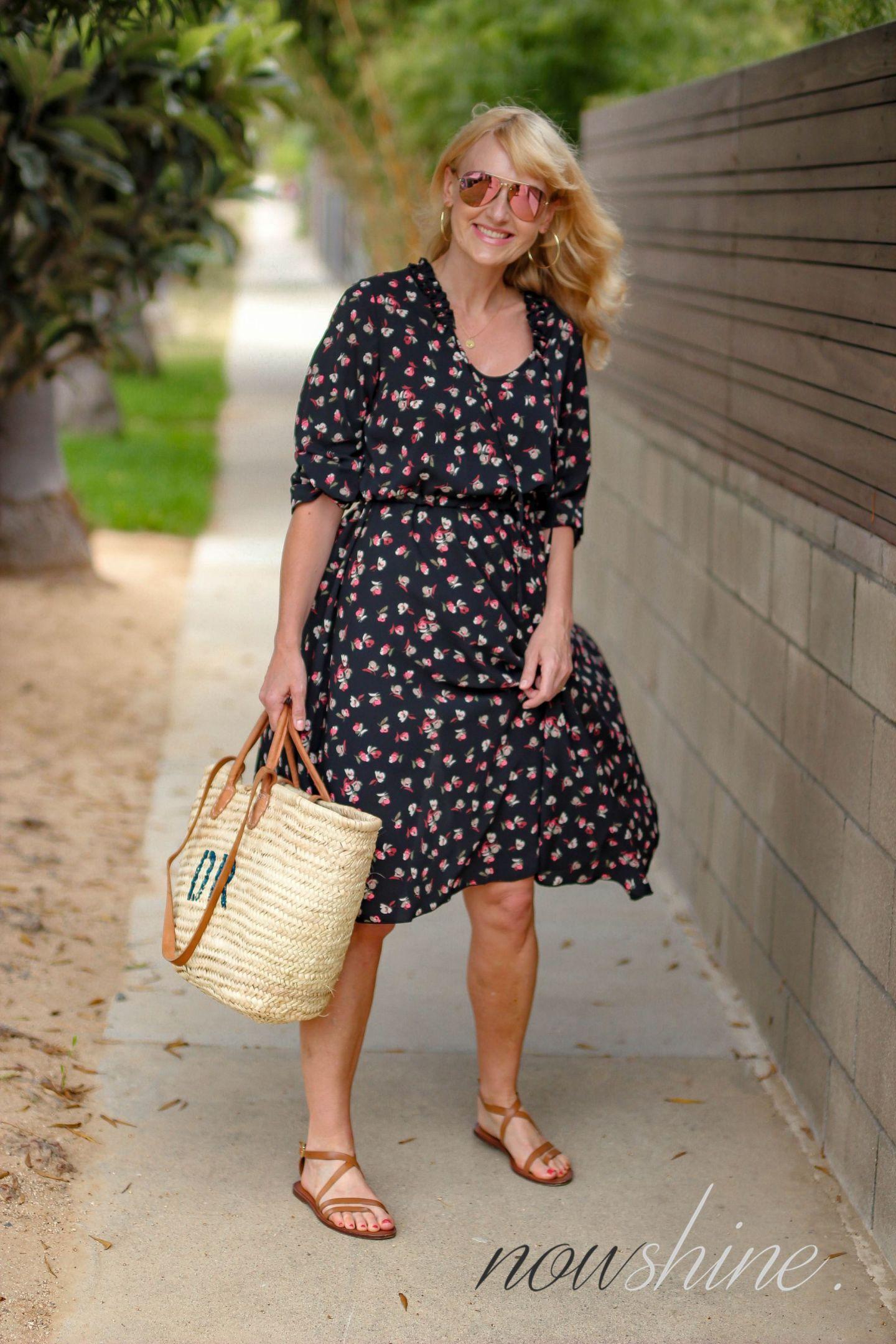 Aus dem WENZ Katalog - Kleid mit Blumen in Venice Kalifornien - Nowshine ü 40 Reiseblog