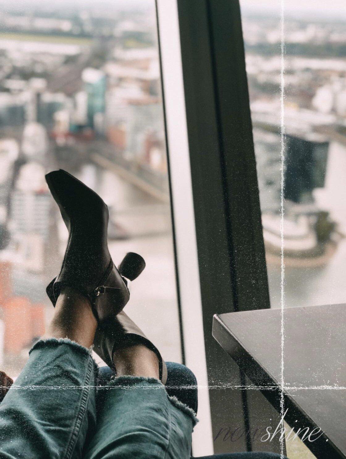 Defense Line von Paula´s Choice - Nowshine Beauty ü40 - my life, my city, my skin Kampagne - Aussicht aus dem Düsseldorfer Rheinturm
