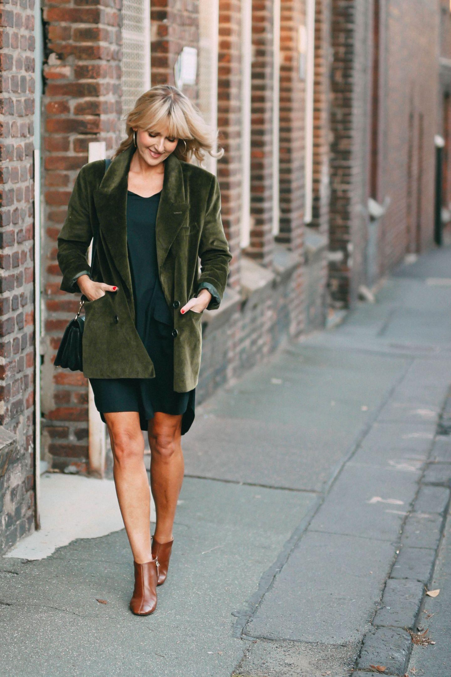 Nowshine ü 40 Modeblog - Herbstoutfit mit Cordblazer - der Herbst und ich
