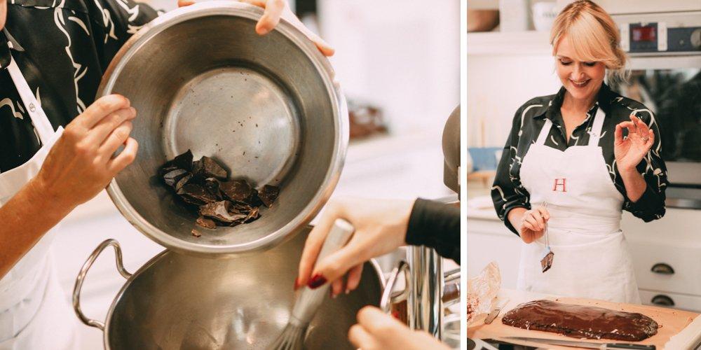 Nowshine und Vanessa Pur backen im Lösch für Freunde einen Lebkuchen nach Omas-Rezept weihnachtslicher Brownie-Weihnachtsbäckerei
