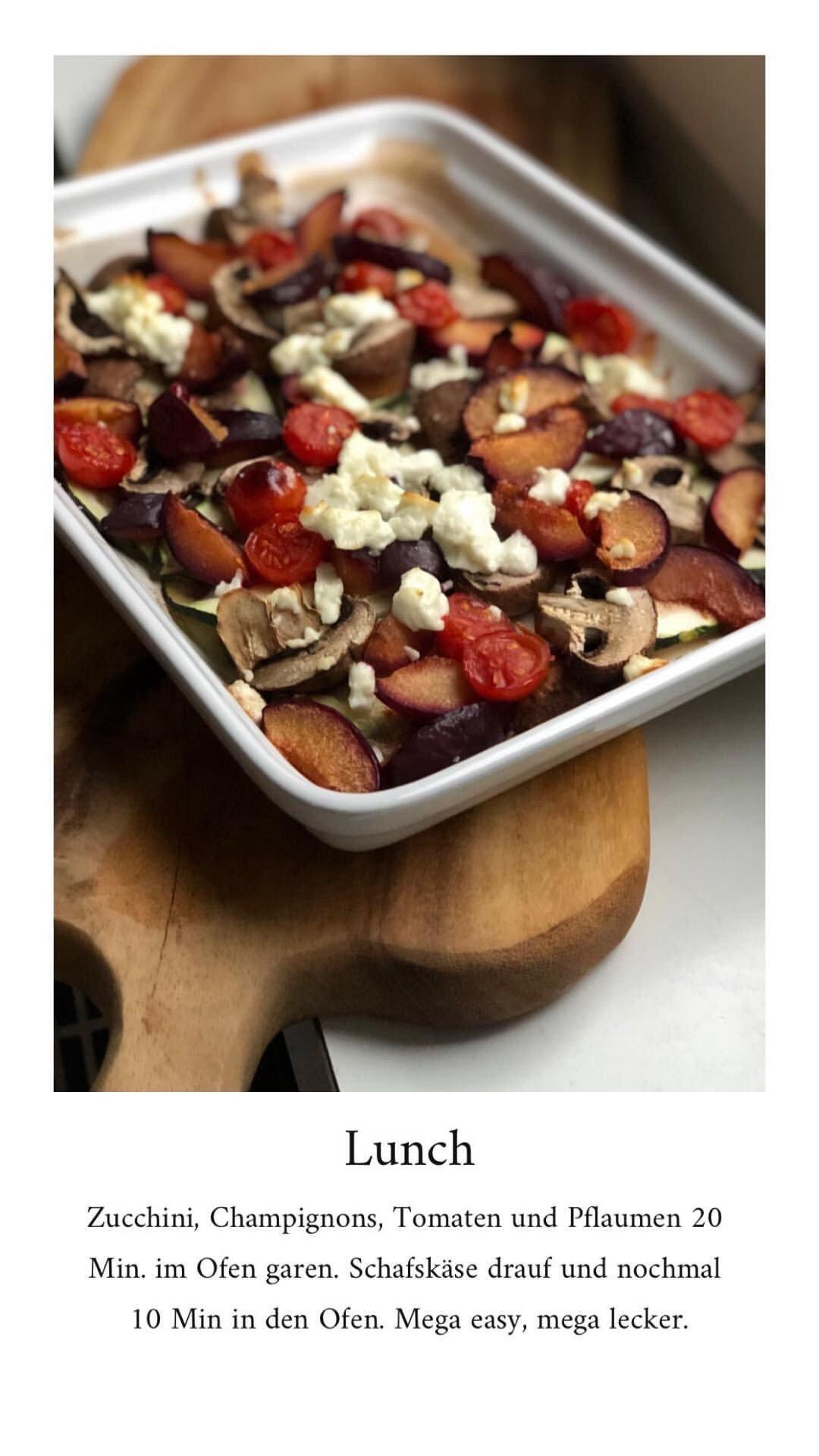 Ernährung - Ayurveda Rezepte - Gemüse aus dem Ofen mit Pflaumen - Mittagessen Bowl - Abendessen -Superfood