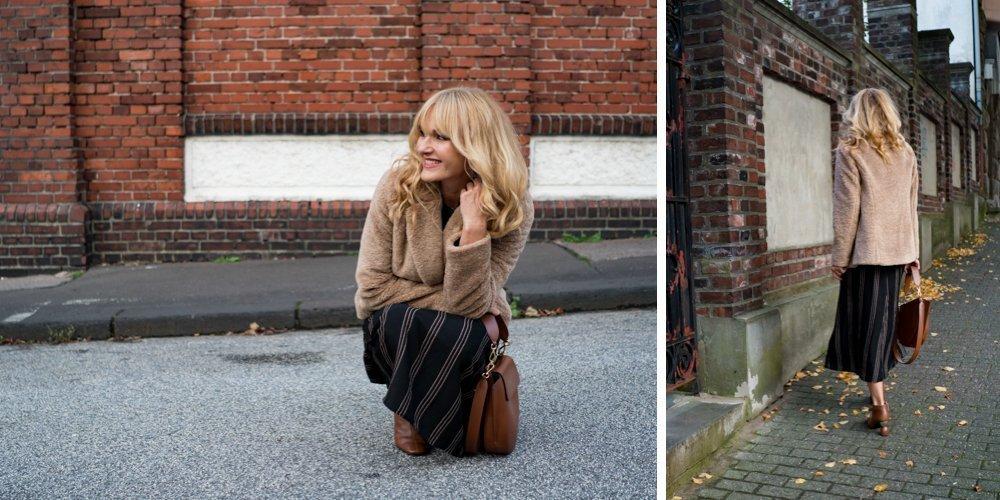 Jacke mit Teddy von WENZ - Nowshine Modeblog - Herbstlook Teil 2