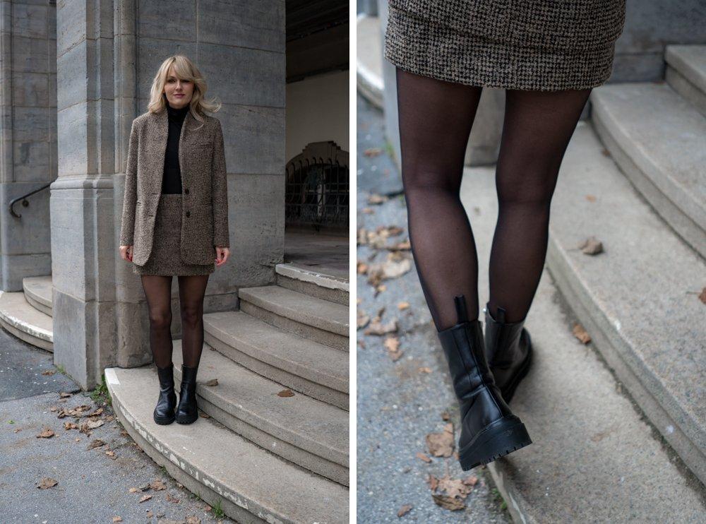 Chunky Boots Trend - Chelsea Boots mit dicker Sohle - Balenciaga Kopie von Zara - Nowshine Fashion Blog über 40