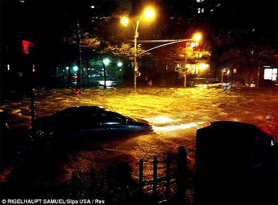 Sandy Lands, Millions Lose Power, 3 People Dead, 1821 Flood Record Smashed