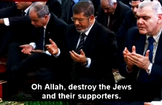 Egyptian President Morsi Mouths 'Amen' As Egyptian Preacher Urges 'Allah, Destroy The Jews'