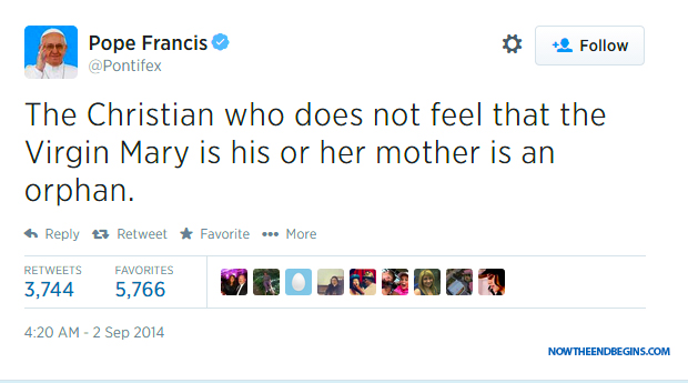 pope-francis-says-without-virgin-mary-christians-are-orphans-antichrist-false-prophet-catholic-church-pagan-religion