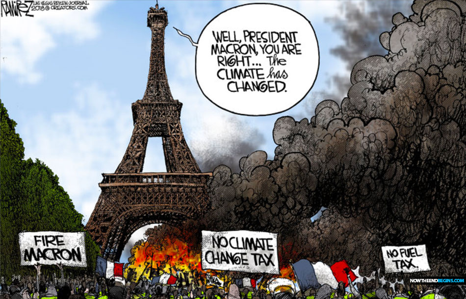 paris-burning-climate-change-tax-globalism-rejected-macron-defeated