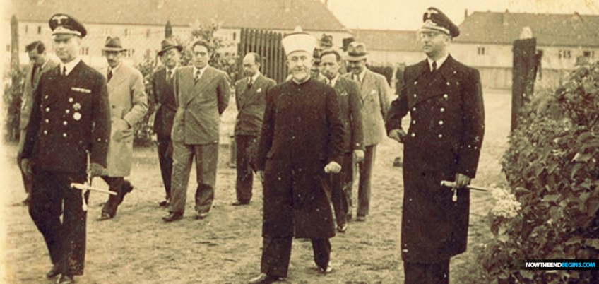 Haj Amin al-Husseini, the Grand Mufti of Jerusalem, in Nazi Germany ,1943. Kedem Auction House
