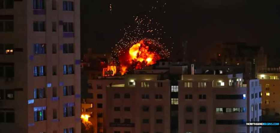 An Egyptian security delegation entered Gaza to follow up on ceasefire talks with Israel on Sunday, just hours after the Israeli Air Force struck Hamas positions in the Gaza Strip in retaliation for an earlier drone attack against an IDF humvee positioned along the border fence.