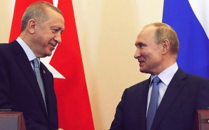 Russian President Vladimir Putin and Turkish President Recep Tayyip Erdogan hours before a five-day pause in fighting between Turkish troops and Kurdish fighters in northeastern Syria was set to expire.