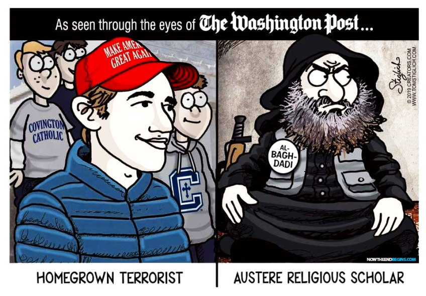 The Washington Post is pilloried online for labeling mass-murdering rapist al-Baghdadi an 'austere religious scholar' in their obituary before changing it