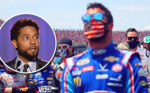 jussie-smollett-maga-hat-nascar-bubba-wallace-rope-noose-garage-door-pull-nascar-make-america-great-again
