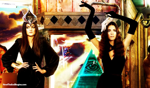 kim-kardashian-kanye-west-illuminati-hollywood-christmas-card-beyonce-satanist