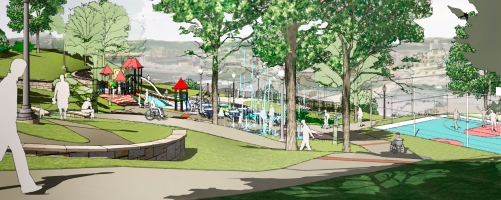 Artist rendition of Cliffside Park set to be completed next year.