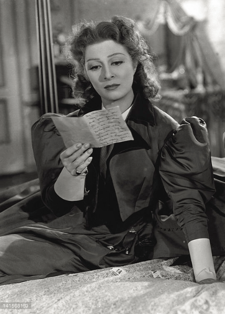 "1940 portrayal of early 19th Century mail service by Greer Garson in ""Pride and Prejudice."""
