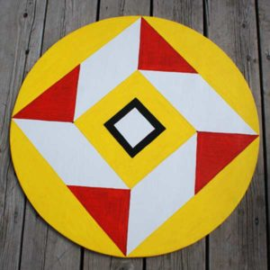 """Hex sign to ward off  """"evil eye."""""""