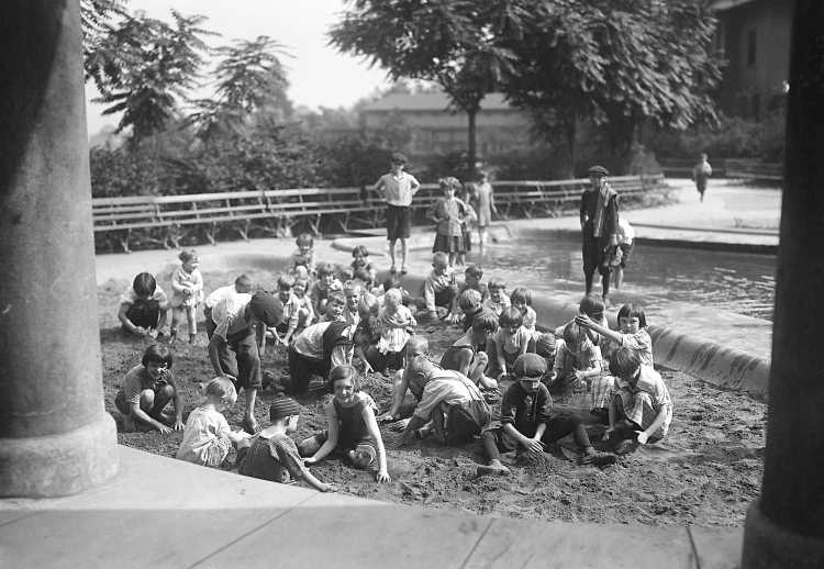 These children at Lawrence Park in Lawrenceville in 1924 could well be offspring of the older children in alley photo above. An, of course, they are all gone now. See the sand pour through their fingers.