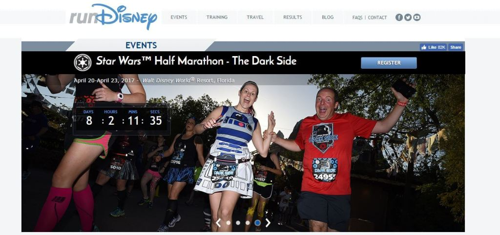Star Wars Run Disney Darkside 10K Star Wars Half Marathon Weekend RunDisney