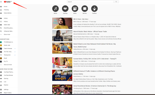 Trending Youtube Videos Watching By Categories And