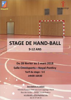 Stage de Hand-Ball