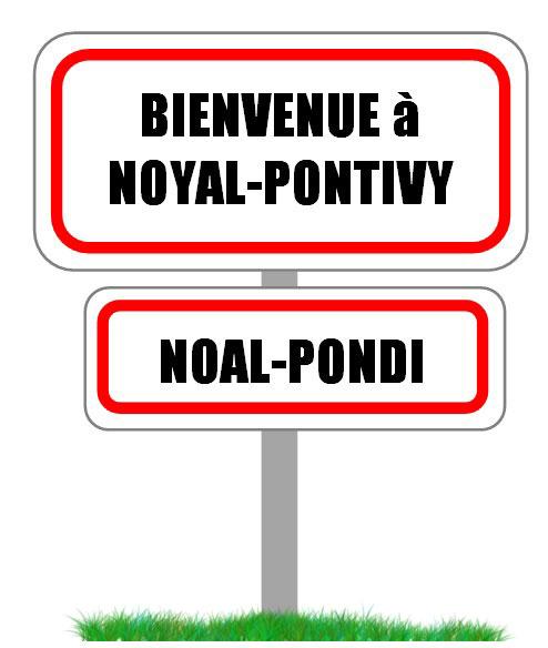 Panneau Bienvenue Noyal-Pontivy