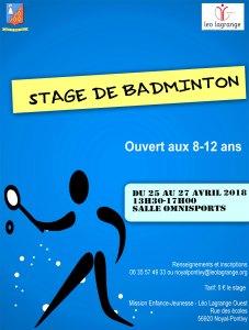 affiche stage Badminton