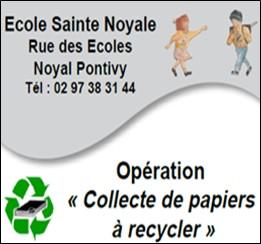 20 mars 2021 collecte de papier à recycler