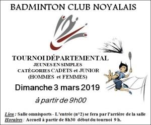 Tournoi Départemental BADMINTON