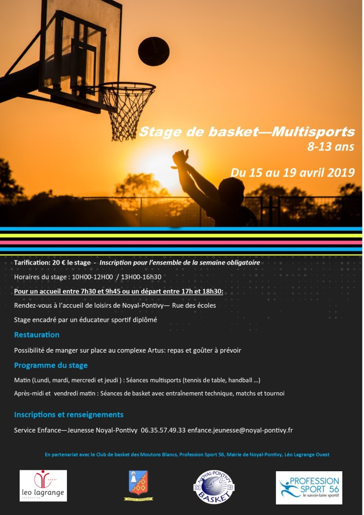 Stage Basket Multisports Avril 2019