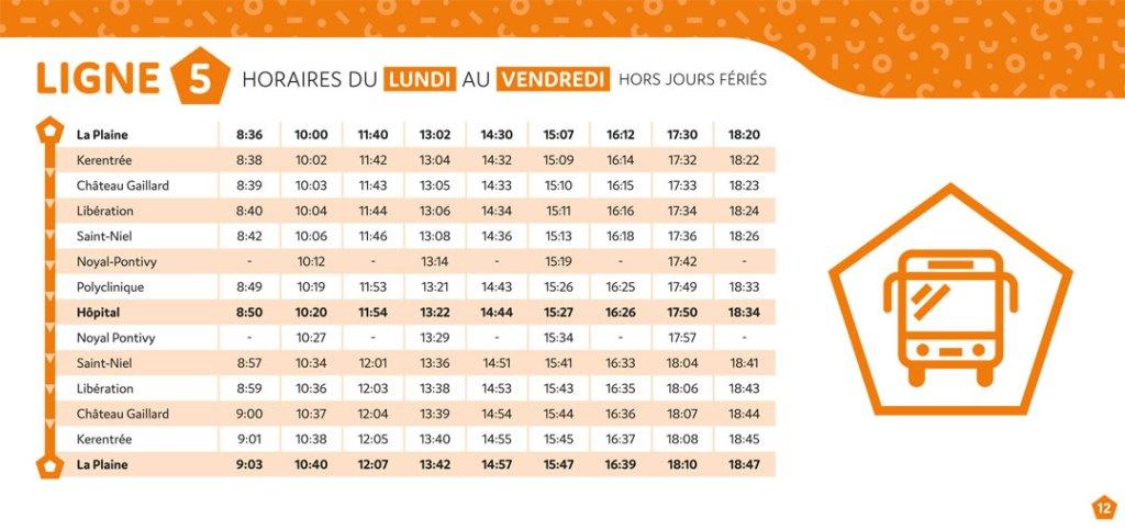 Pondibus Guide horaires : ligne 5