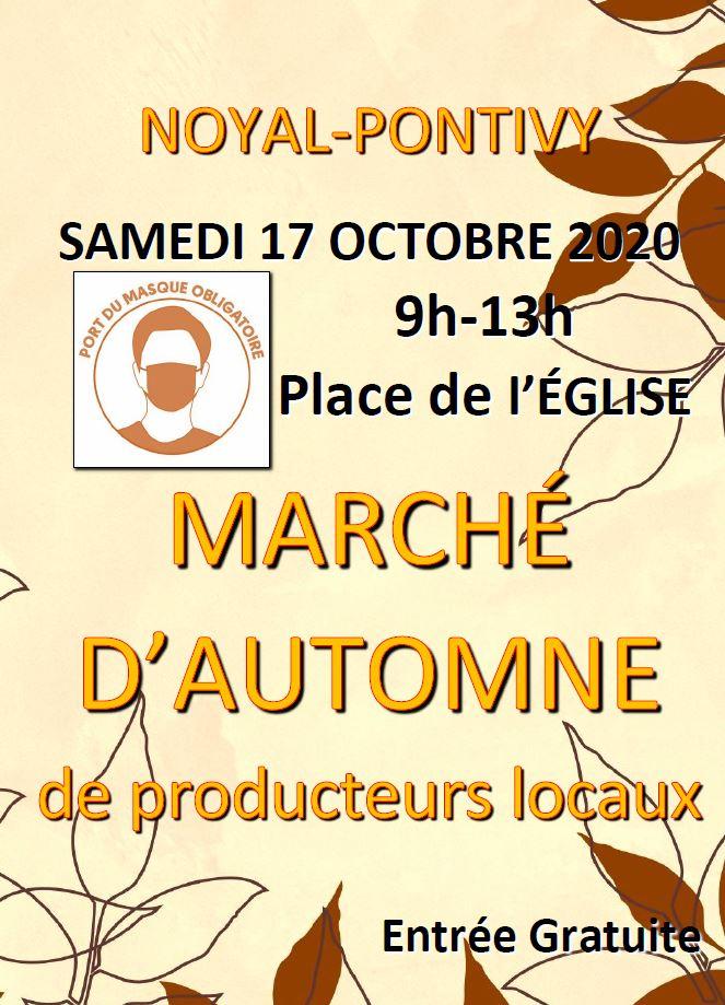 Affiche marché automne