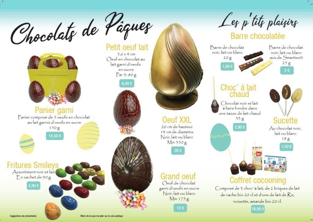 Plaquette des chocolats du Hérisson 2