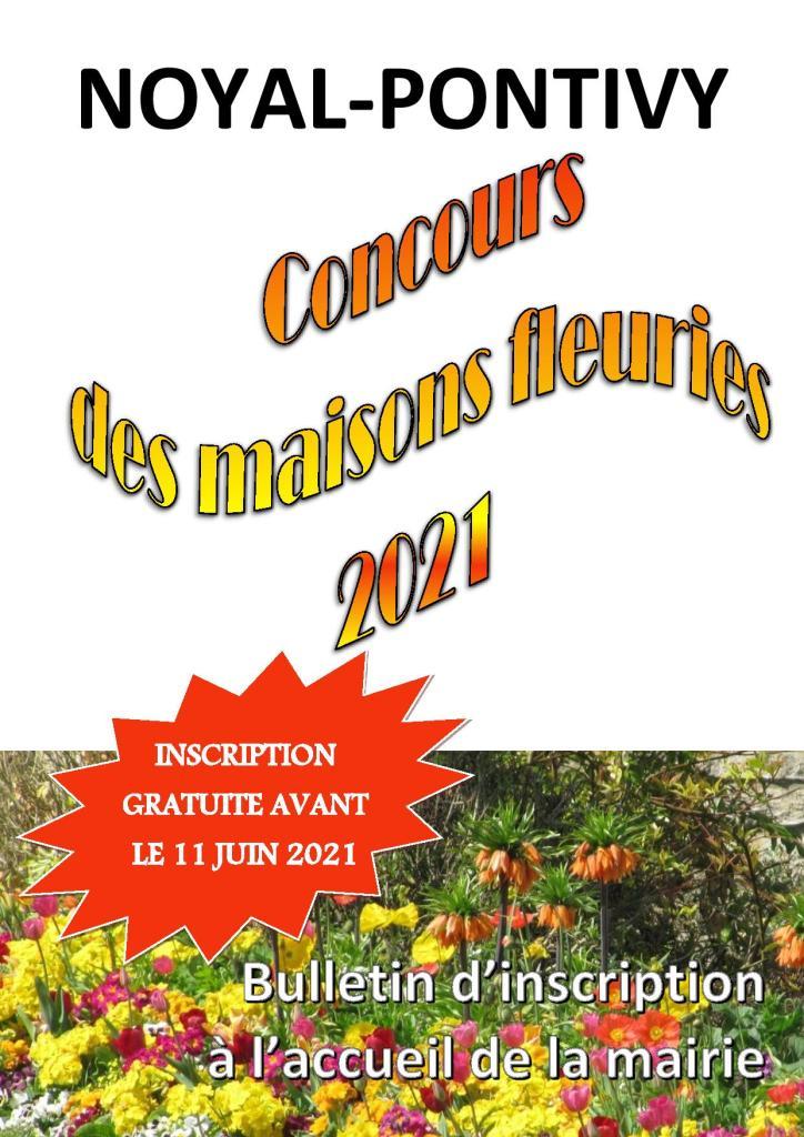 Affiche Concours Maisons Fleuries 2021