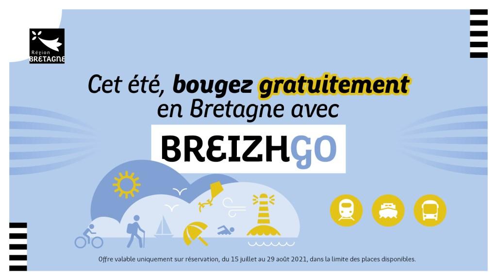 voyager gratuitement sur le réseau de transport public BreizhGo cet été