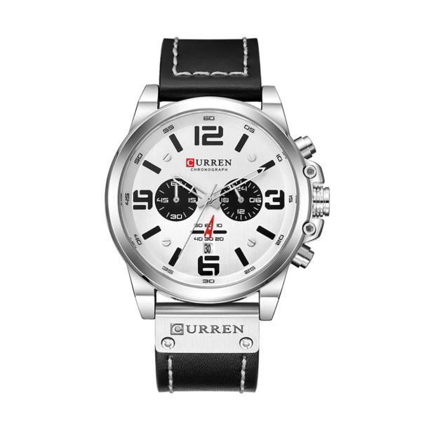 שעון לגבר CURREN שחור לבן