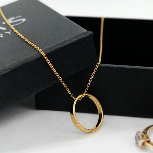 שרשרת תליון טבעת