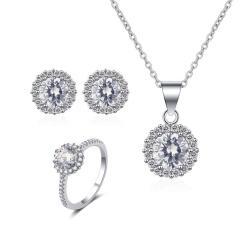"""סט תכשיטים """"שרון"""" שרשרת, טבעת ועגילים"""
