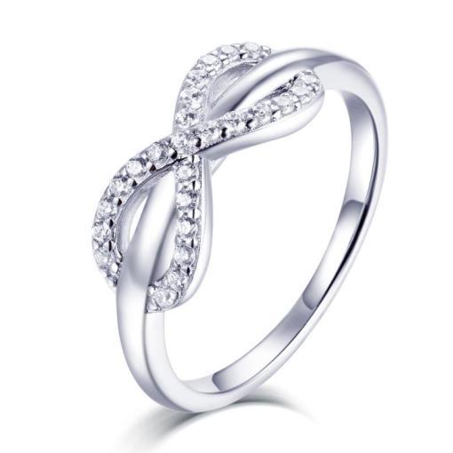 טבעת אינפיניטי כסף 925 משובצת