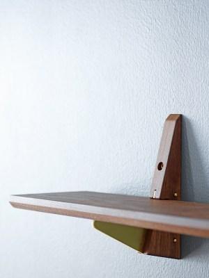 Wooden shelf in walnut
