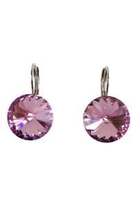 Pink Swarovski Earrings - GO HOME... Modern Decor & Gifts