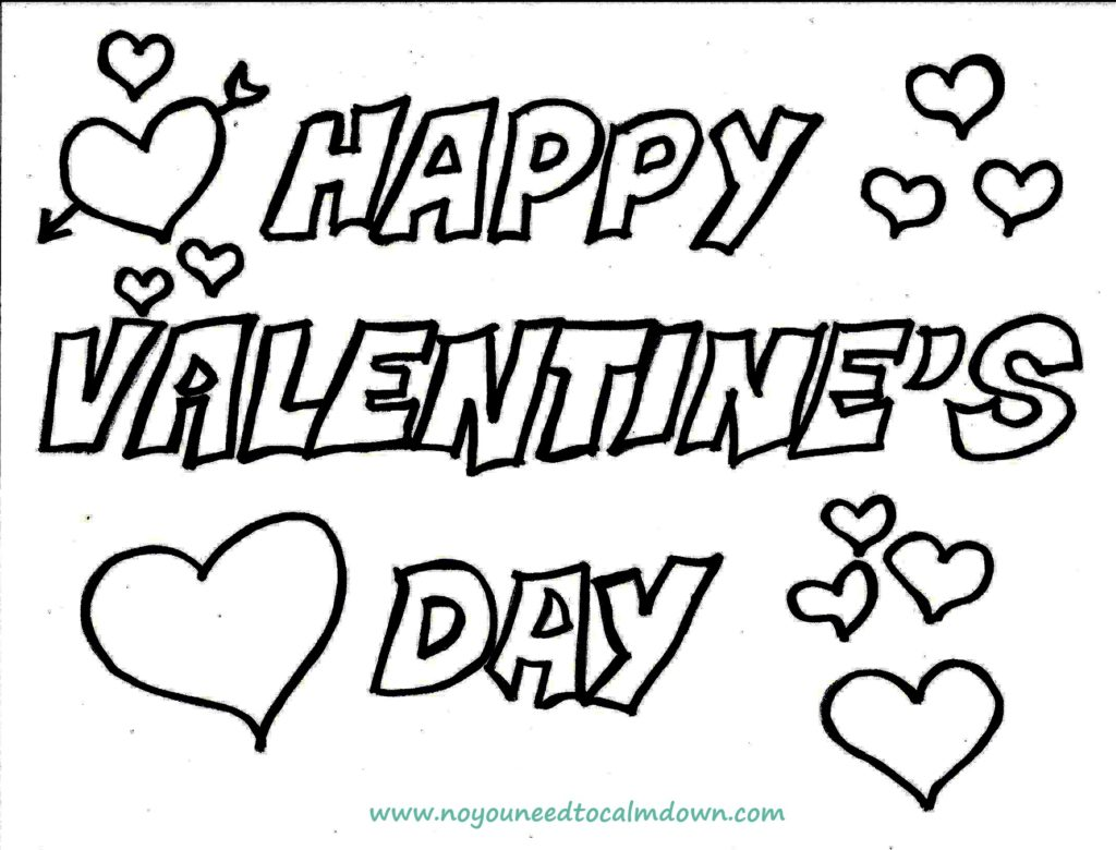 Happy Valentine S Day Coloring Page